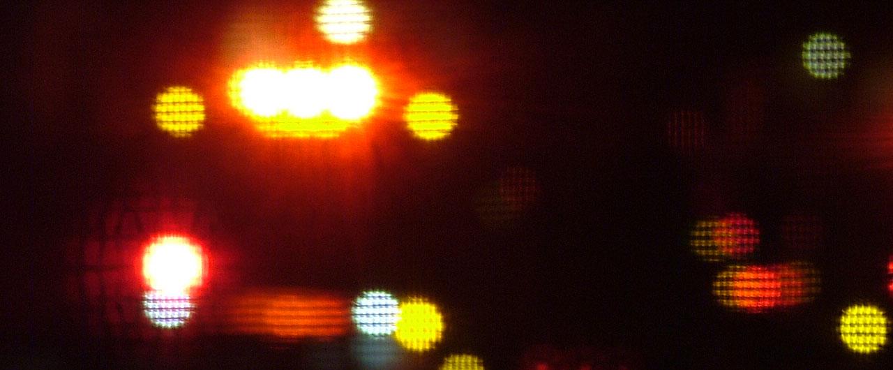 Flashing Emergency Lights
